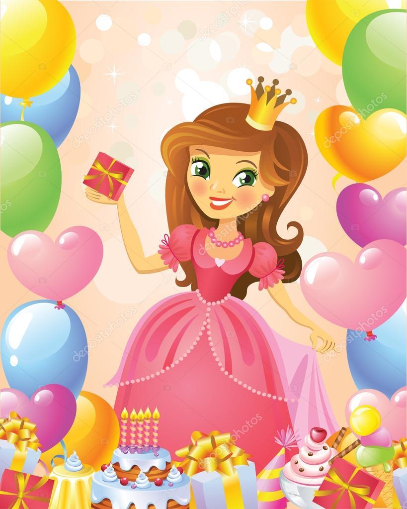 Принцессе 3 открытка
