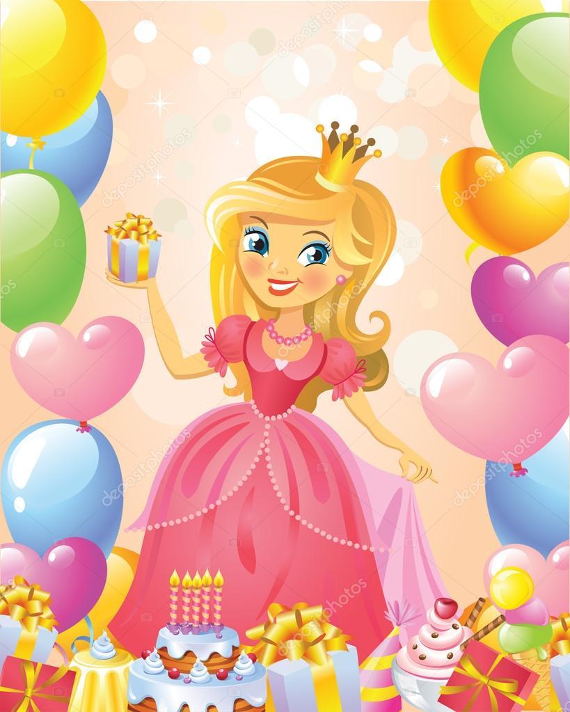 Cartolina D'auguri Di Buon Compleanno, Principessa