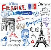 Symboly Francie jako funky čmáranice