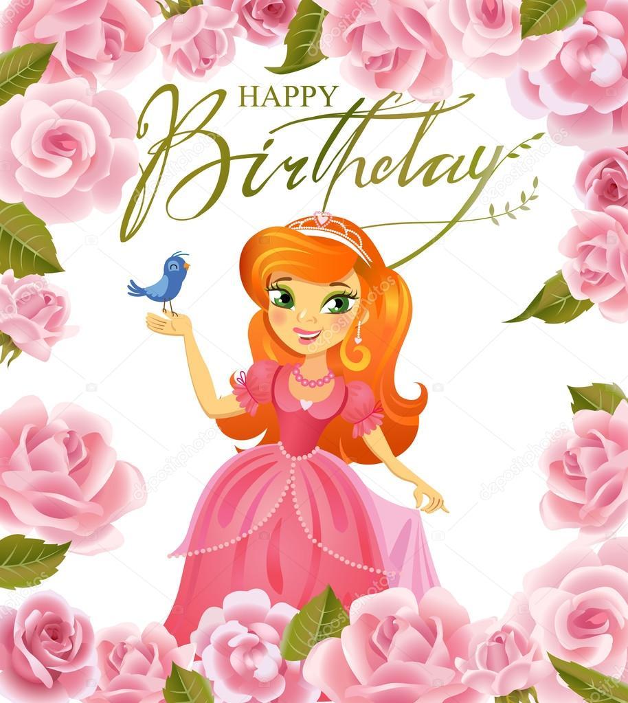 Feliz Aniversário, Princesa, Cartão De Felicitações