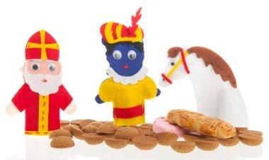Handmade puppets and gingernuts for Dutch Sinterklaas