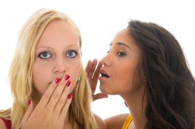 Black and white girls gossip