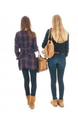 Schoolgirls with school bags