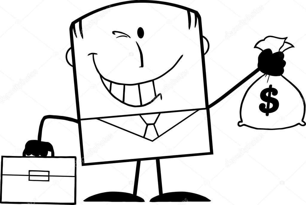 Imágenes: dinero en blanco y negro | empresario guiño blanco y negro ...