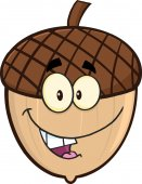 Ghianda sorridente Cartoon Cartoon Character