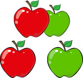 Cartoon Apples set