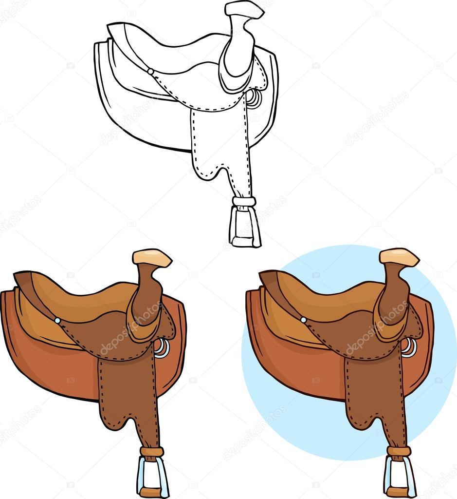 adf93e55b7 Monturas de caballo de dibujos animados — Fotos de Stock © HitToon ...