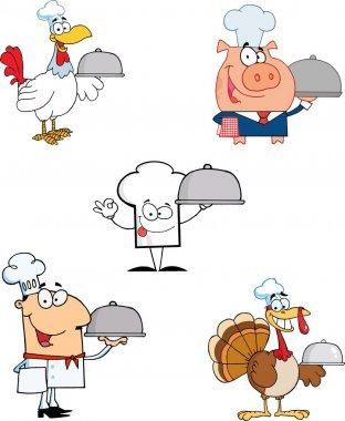 Different Chef Cartoon Mascot Characters