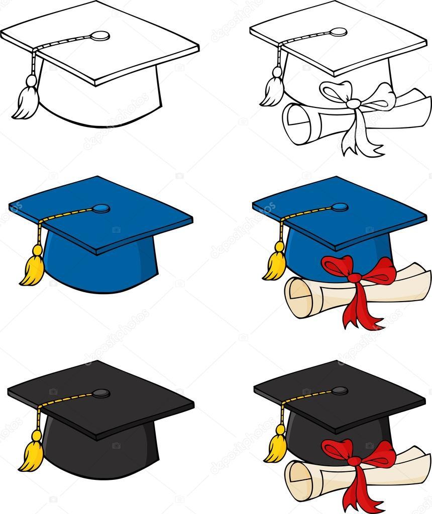 Dibujos Birretes Graduacion Birretes De Graduación