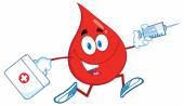 Blood Drop with Syringe And Medicine Bag