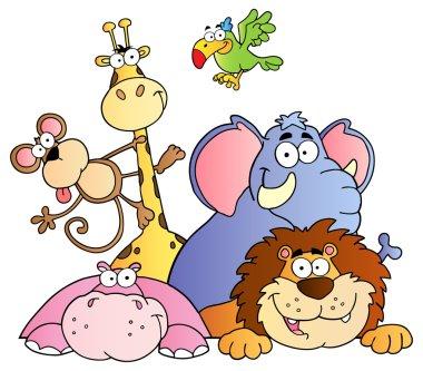 Happy Jungle Animals.