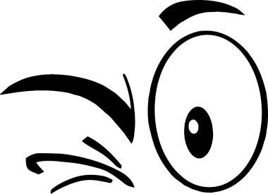 Winking Cartoon Eyes.