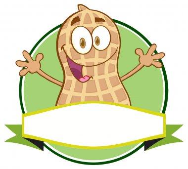 Cartoon Peanut Character Logo