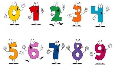 Cartoon funny numbers
