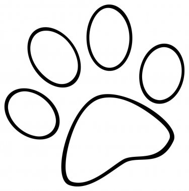 Outlined Paw Print.