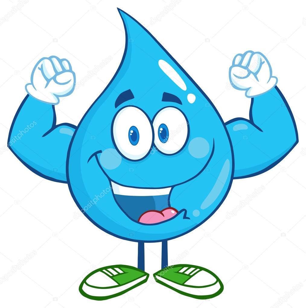 personaje de dibujos animados de gota de agua — archivo  ~ Wasserhahn Comic