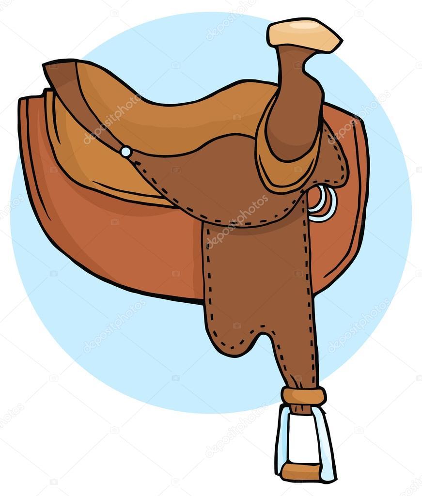 Im genes silla de montar ilustraci n de silla de montar caballo vector de stock hittoon - Silla montar caballo ...