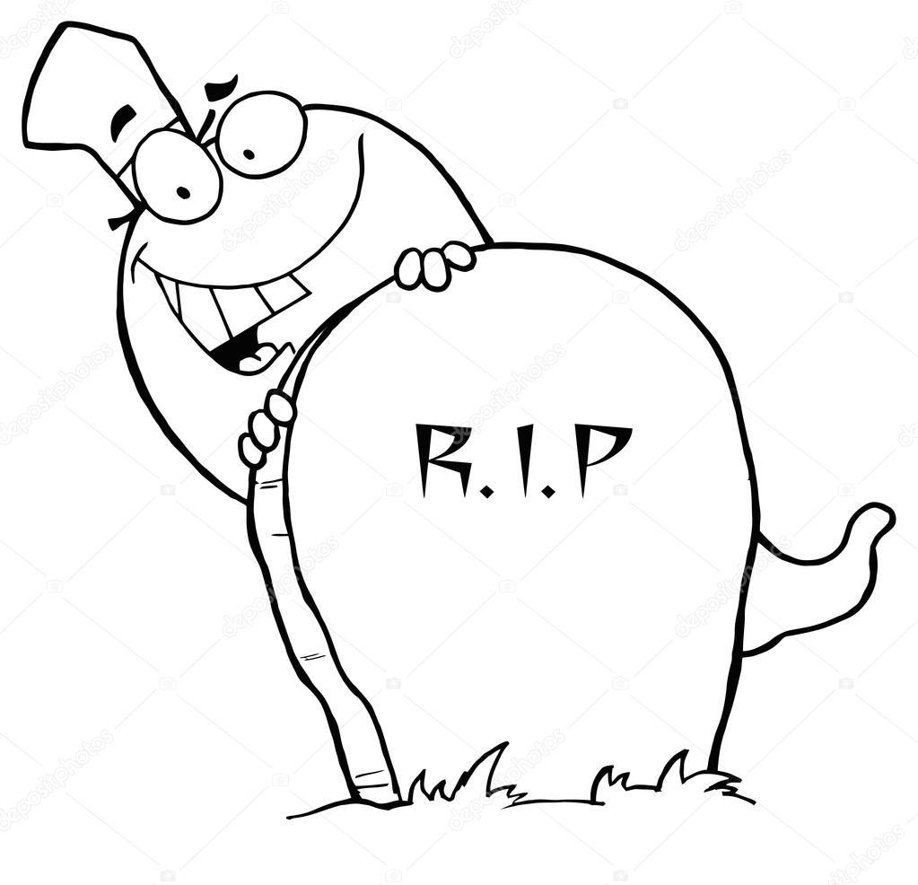 Fantasma de dibujos animados de Happy Halloween — Vector de stock ...