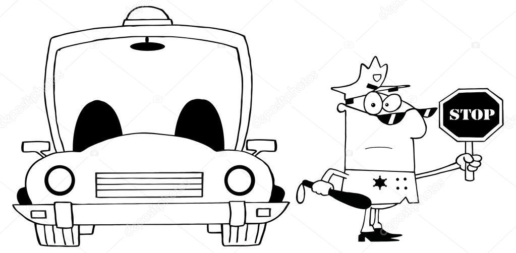 Imágenes: policias federales para dibujar   policía de dibujos ...
