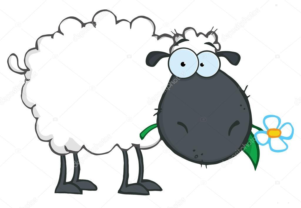 Personnage de dessin anim mouton noir image vectorielle - Mouton dessin anime ...