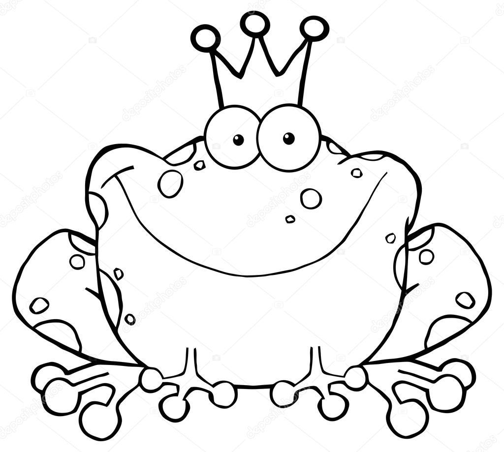 Dibujos animados la princesa Frog — Vector de stock © HitToon #61064721