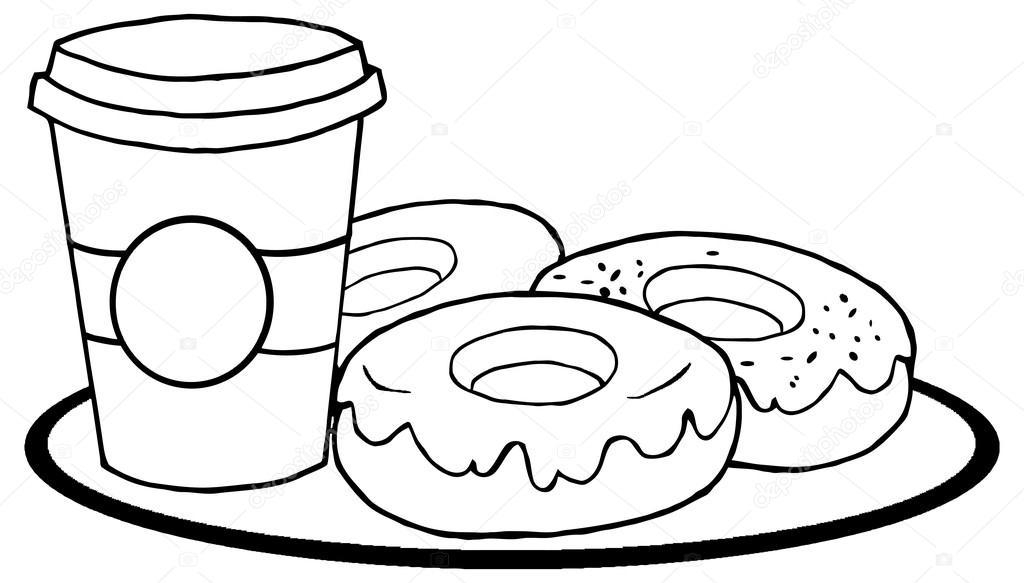 Dibujos Animados De Ilustración De Donuts Archivo Imágenes