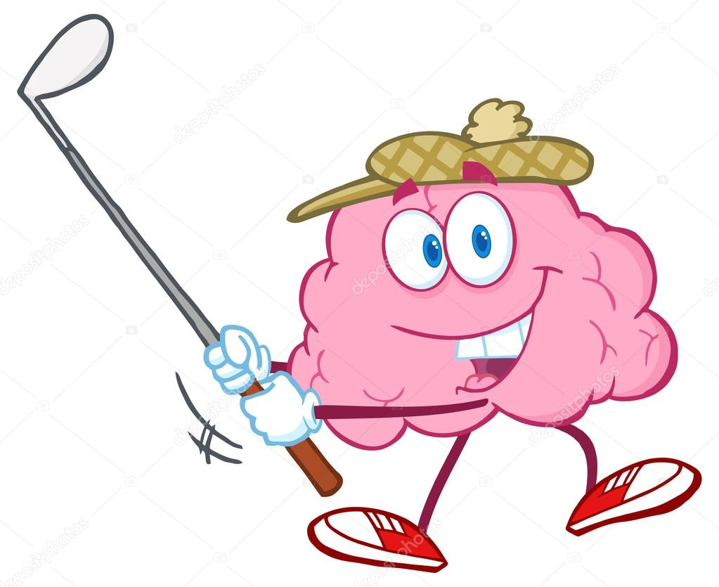 Cerebro que hace pivotar un palo de Golf — Vector de stock © HitToon ...