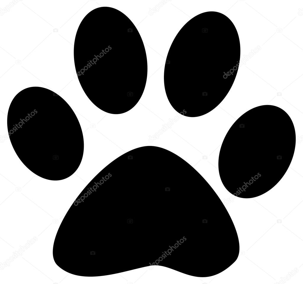 cartoon paw print ⬇ vector image by © hittoon | vector stock 61068597  depositphotos