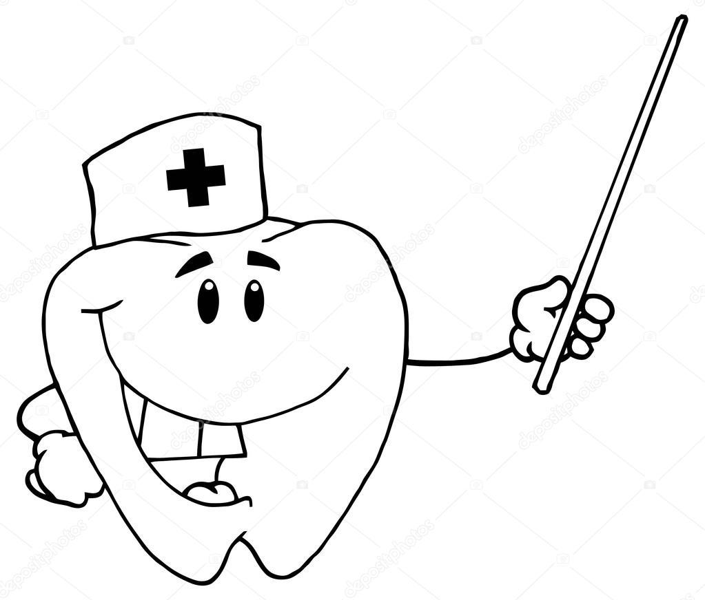 doctor diente de dibujos animados — Archivo Imágenes Vectoriales ...