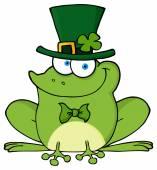 šťastný skřítek žába