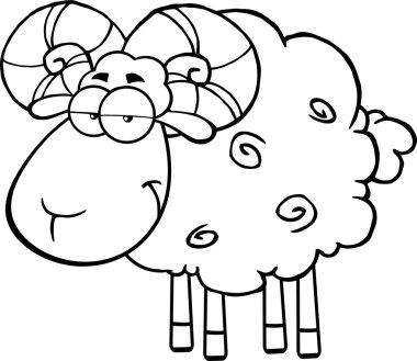 Cute Ram Sheep Character
