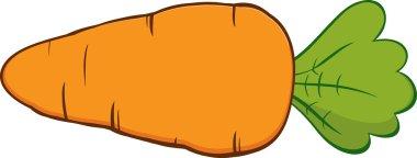 Orange Cartoon Carrot.
