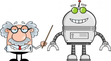 Professor Shows A Robot