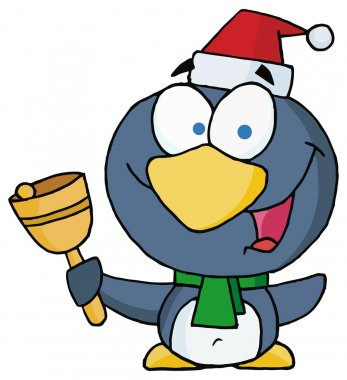 Christmas Penguin with Bell