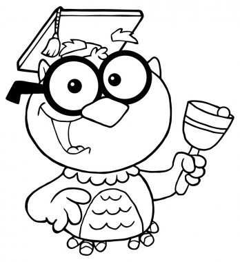 Owl Teacher Character