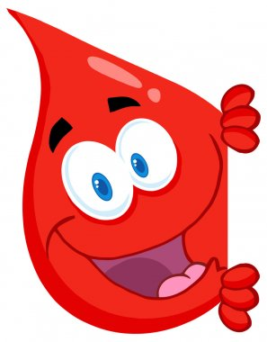 Blood Drop Character