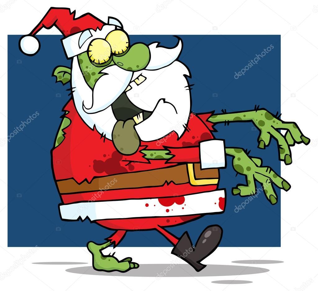 Santa Claus Zombie Walking