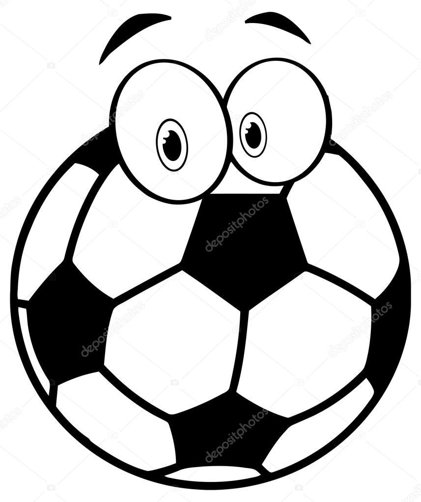 Futbol Topu Karakter Stok Vektör Hittoon 61071421