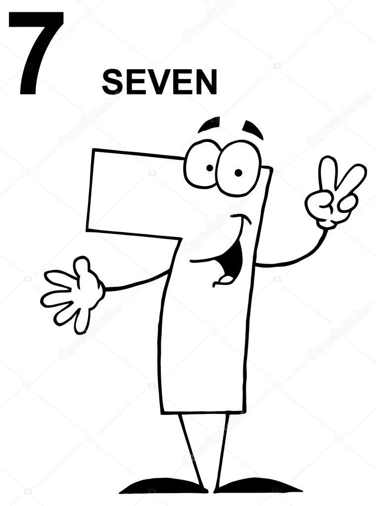 Depositphotos Stock Illustration Funny Cartoon Number Photo Character