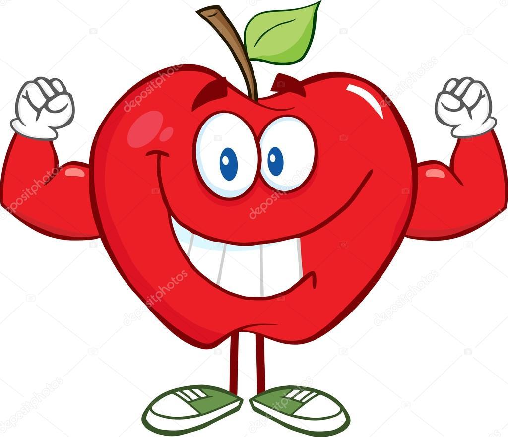 Apfel mit Muskel-Arme — Stockvektor © HitToon #61071865