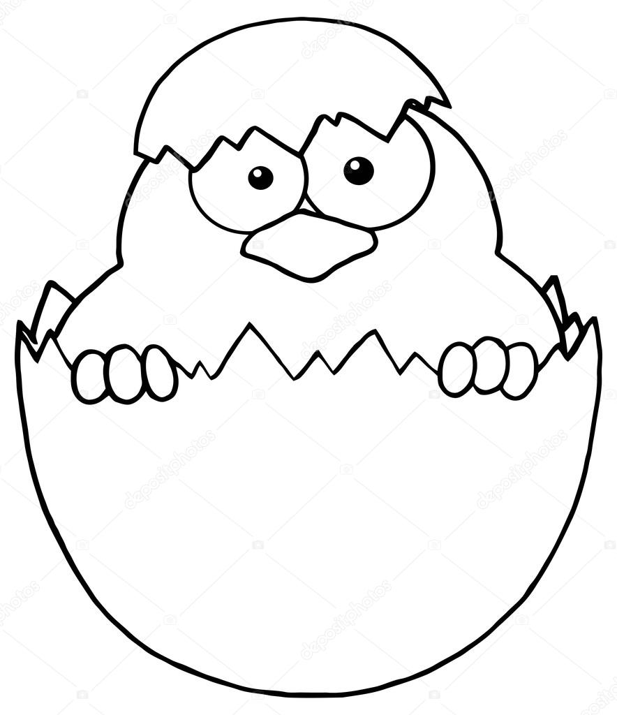 Outlined Surprise Chick