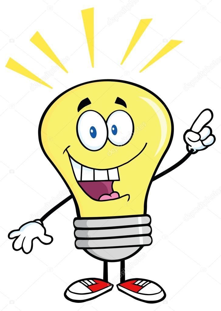 Light Bulb With A Bright Idea Stock Vector
