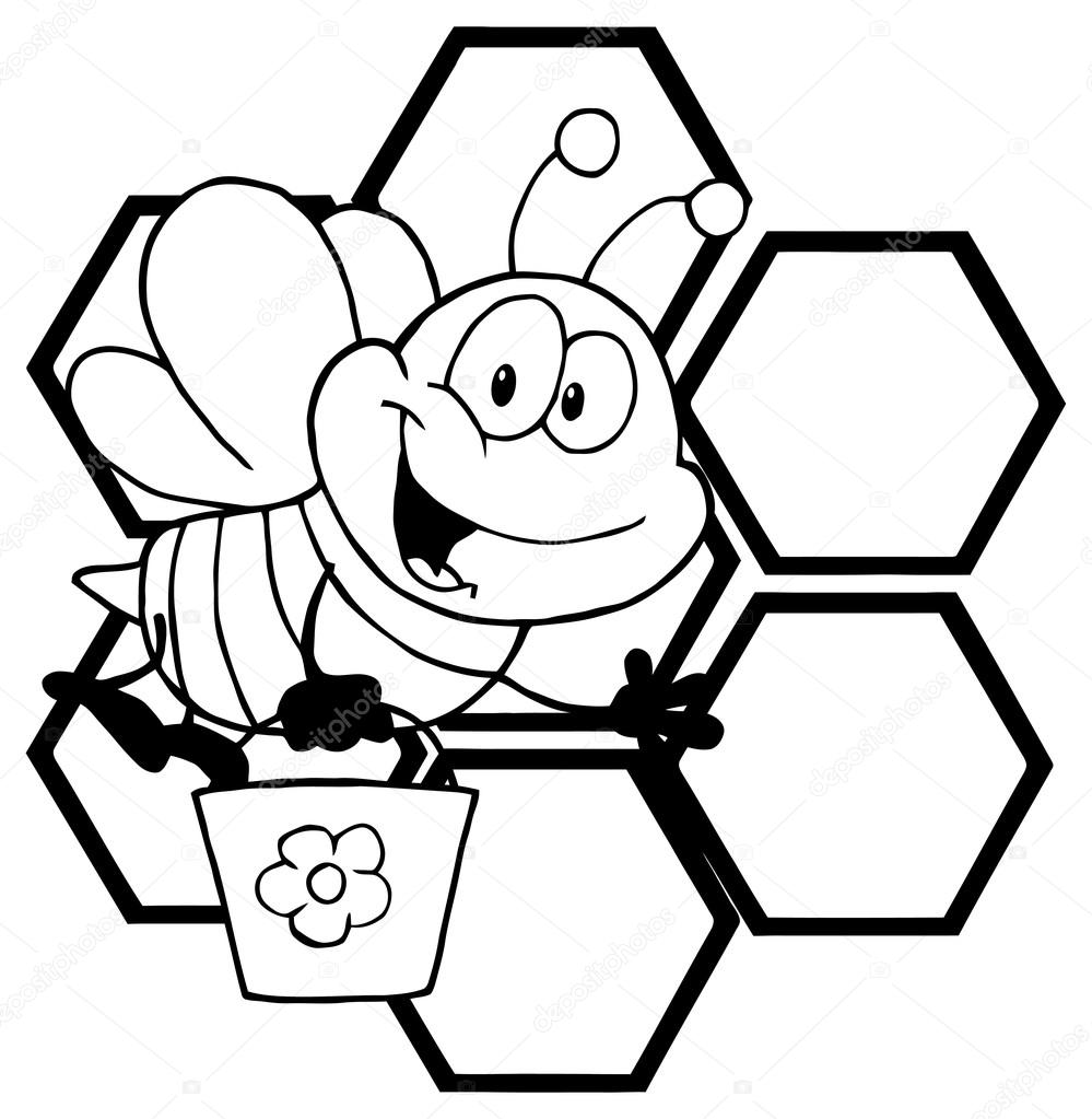 personaje de dibujos animados abeja — Archivo Imágenes Vectoriales ...