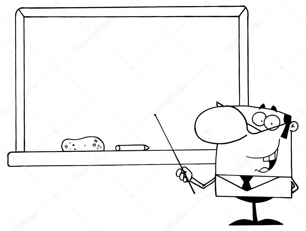 Imágenes Profesores Animados Para Colorear Profesor Con El