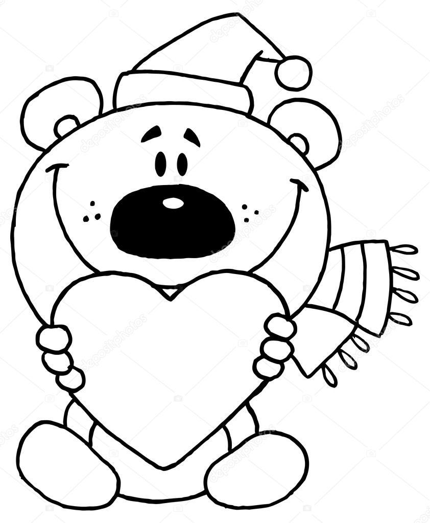 Bear Holding A Heart Stock Vector C Hittoon 61075917