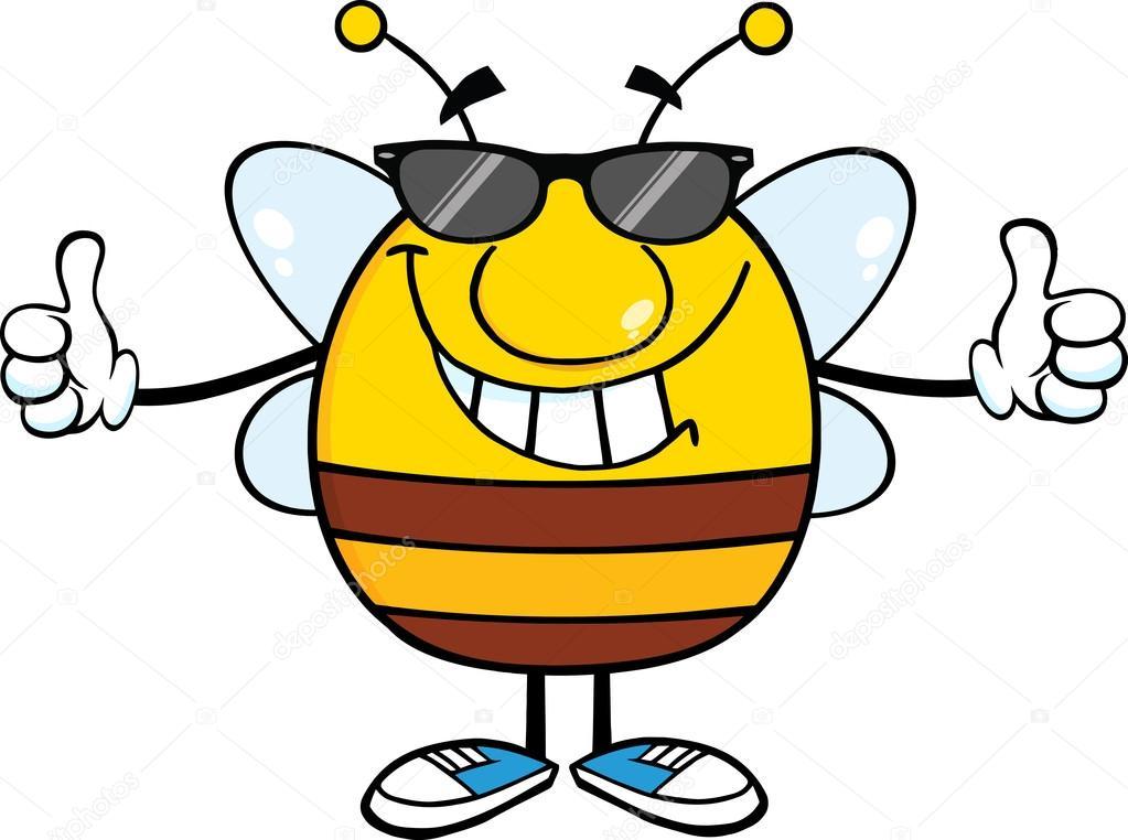 Sol ClipartAbeja Mofletudo Gafas Con De Sonriente 4Aq3jL5R