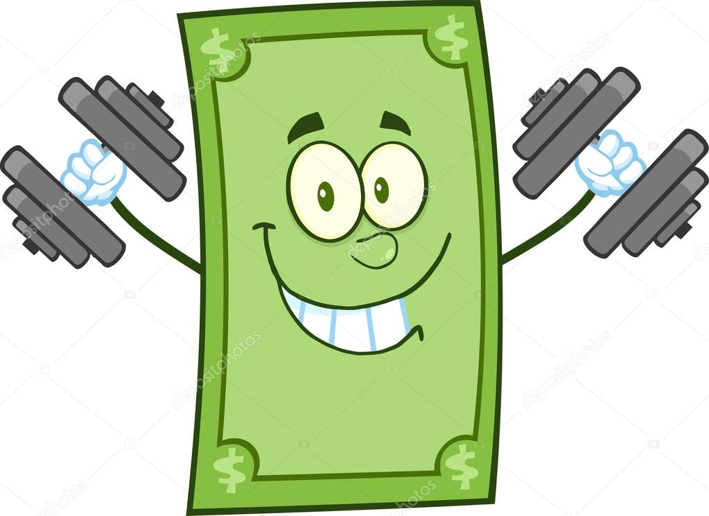 Sonriente Personaje De Dibujos Animados De Dólar