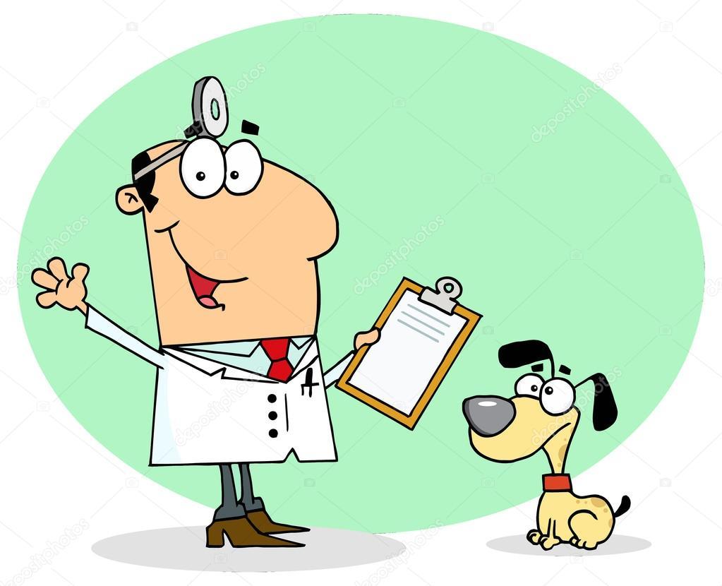 Veterinario Doctor Personaje De Dibujos Animados