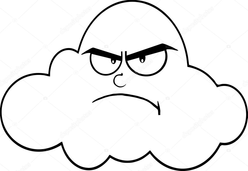 Wütende Wolke Cartoon — Stockvektor © HitToon #61079191