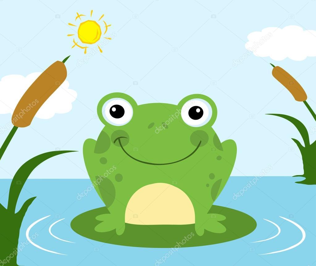 cute frog cartoon character stock vector hittoon 61079607 rh depositphotos com Vector The Crocodile Frog Prince